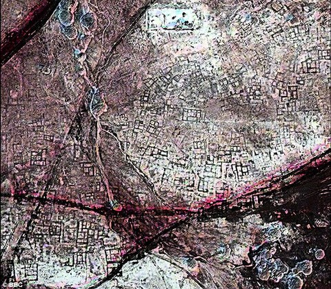 A satellite image of an area of Tanis that shows the city to be littered with underground tombs.jpg